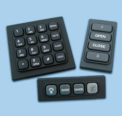 How are silicone rubber keyboards made?